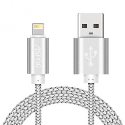 Lightning USB кабель Aspor 0,3м для iPhone/iPod/iPad