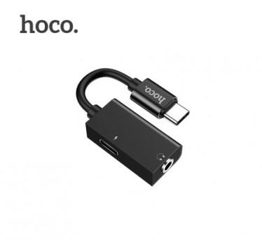 Переходник Hoco Type-C 2-in-1 audio converter