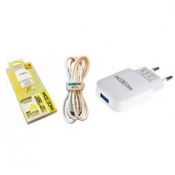 Сетевое зарядное устройство moXom + Lightning USB кабель