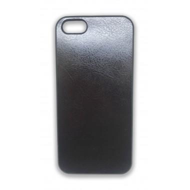 Силиконовый черный чехол под кожу для iPhone 5/5s/SE