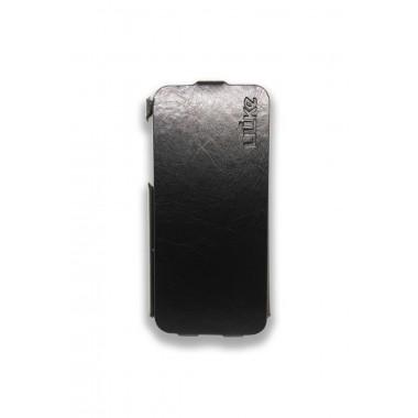 Кожаный черный флип Ulike для iPhone 5/5s/SE