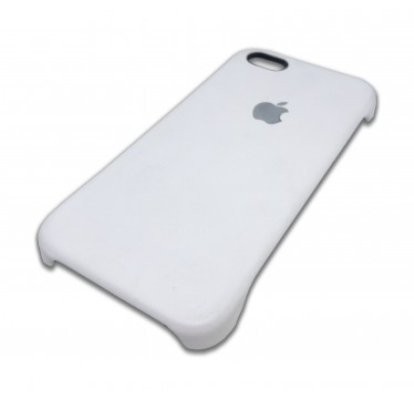 Кожаная белая накладка Apple для iPhone 6/6s