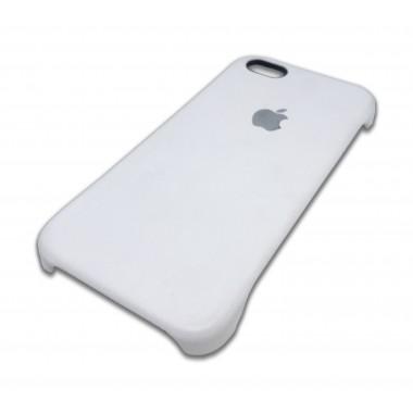 Кожаная белая накладка Apple для iPhone 5/5s/SE