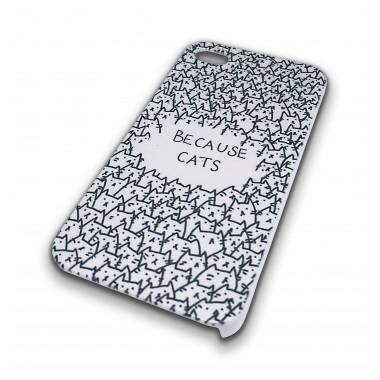 Пластиковый чехол  Cats для iPhone 4/4s