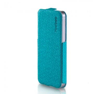 Голубой кожаный чехол Yoobao Fashion для iPhone 5/5s/SE
