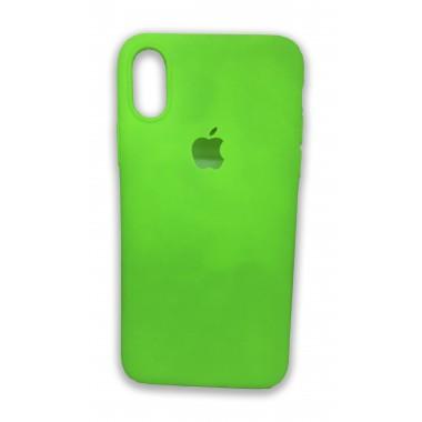 Ультратонкий силиконовый салатовый чехол для iPhone X и Xs