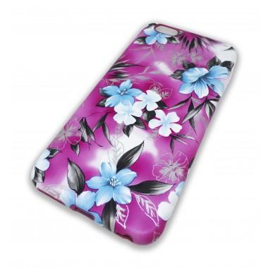 Силиконовый чехол Flowers для iPhone 6+/6s+