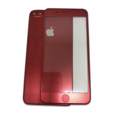 Защитное стекло + задняя металлическая накладка PRODUCT RED для iPhone 7 Plus