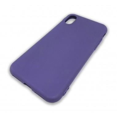 Силиконовый фиолетовый чехол Aspor для iPhone X