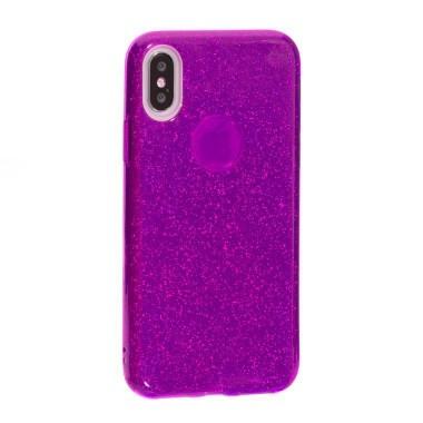 Силиконовый фиолетовый чехол Aspor Mask Collection для iPhone X