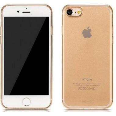 Силиконовый золотой чехол Remax Crystal для iPhone 7 и 8 Plus