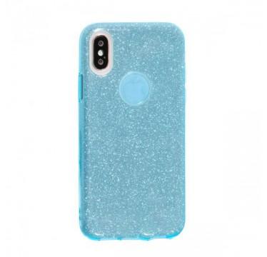Силиконовый голубой чехол Shine для iPhone Xs Max