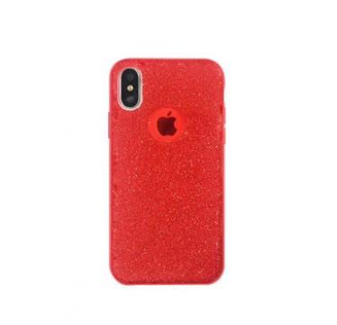 Силиконовый красный чехол Shine для iPhone Xs Max