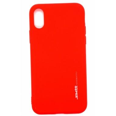 Силиконовый чехол SMTT Soft Touch для iPhone XR красный