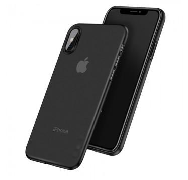 Ультратонкий черный чехол для iPhone X и Xs