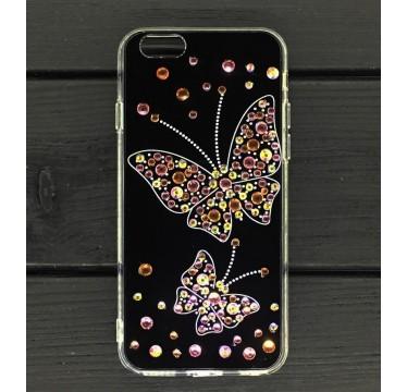 Силиконовый чехол Бабочка Swarowski для iPhone 5/5s/SE