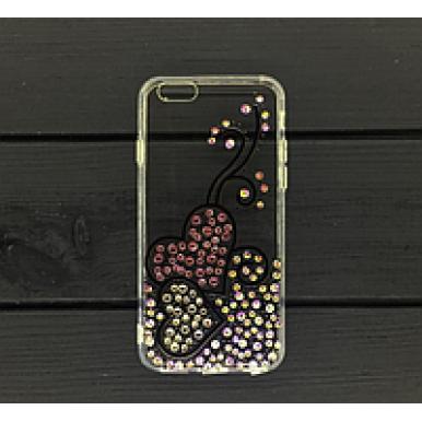Силиконовый чехол Сердечки Swarowski для iPhone X и Xs