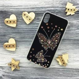 Силиконовый чехол Бабочка Swarowski для iPhone X и Xs