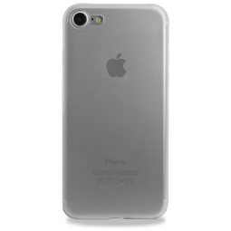 Силиконовый матовый прозрачно-белый чехол Hoco для iPhone 7