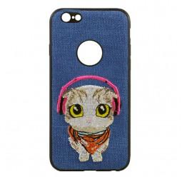 Синий чехол iPefet Dog для iPhone для iPhone X и Xs