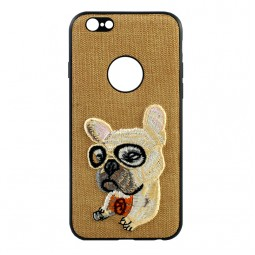 Коричневый чехол iPefet Dog для iPhone 7 и 8