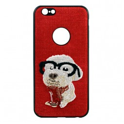Красный чехол iPefet Dog для iPhone для iPhone X и Xs