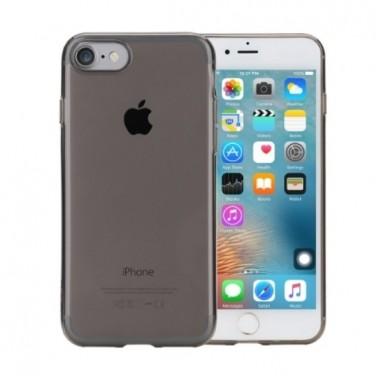 Силиконовый прозрачно-черный чехол для iPhone 7 и 8
