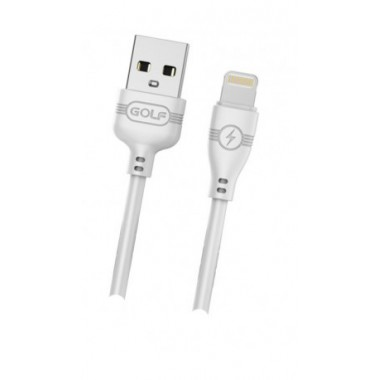 Lightning USB кабель Golf белый для iPhone/iPod/iPad