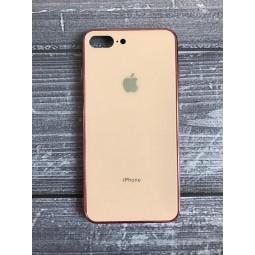 Стеклянный розовый чехол для iPhone 7+ и 8+