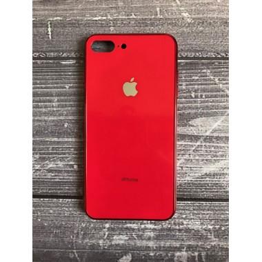 Стеклянный стеклянный красный чехол для iPhone 7 и 8