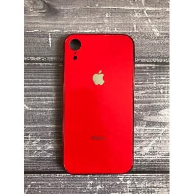 Силиконовый красный стеклянный чехол для iPhone Xr