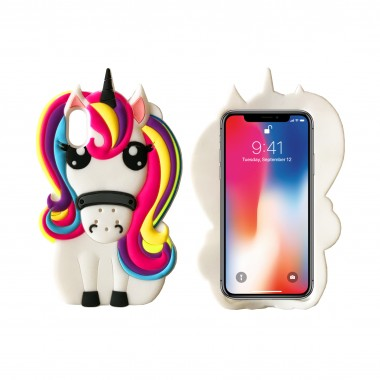 Силиконовый чехол Disney Unicorn для iPhone X и Xs