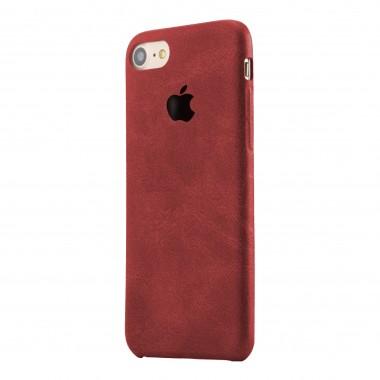 Красный кожаный чехол для iPhone 7+ и 8+