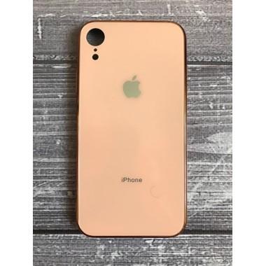 Силиконовый золотой стеклянный чехол для iPhone Xr