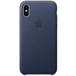 Синий Leather Case для iPhone X и Xs