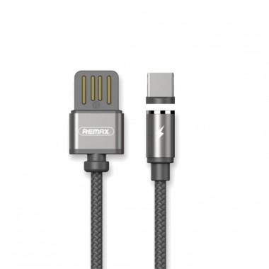 Магнитный тканевый USB Type-C кабель