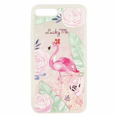 Переливающийся силиконовый чехол Stardust Flamingo для iPhone X и Xs