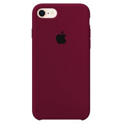 Marsala Apple silicone case для iPhone 7/8