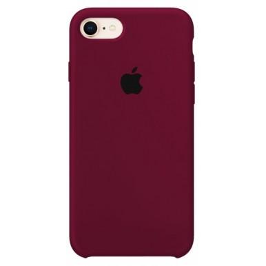 Marsala Apple silicone case для iPhone 7/8