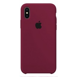 Marsala Apple silicone case для iPhone X и Xs