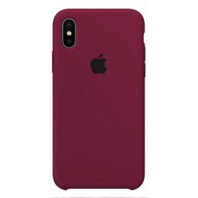 Marsala Apple silicone case для iPhone X и Xs