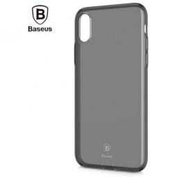 Силиконовый чехол Силикон Baseus Transparent Black Simple с заглушкой iPhone X и Xs