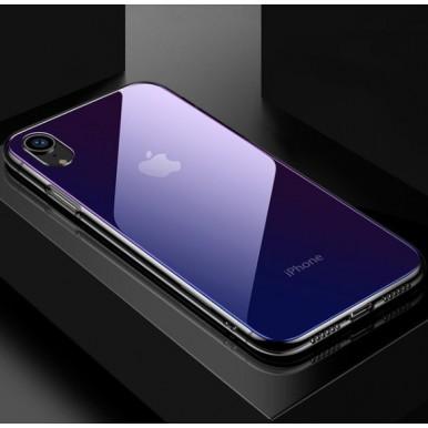 Силиконовый синий чехол для iPhone X и Xs
