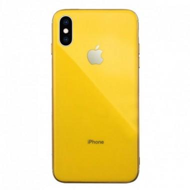 Силиконовый желтый чехол для iPhone Xr