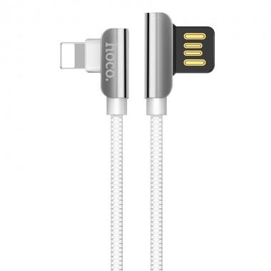 Lightning USB кабель Hoco U42 exquisite steel charged
