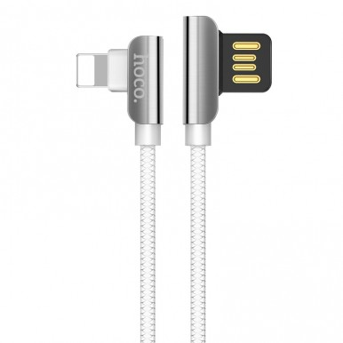 Lightning USB кабель Hoco U42 exquisite steel charged