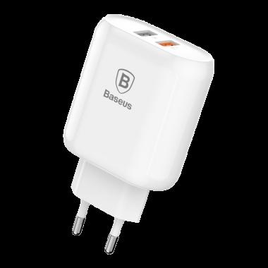 Сетевое зарядное устройство Baseus Bojure Series 2USB 3.0A  QC3.0 18W