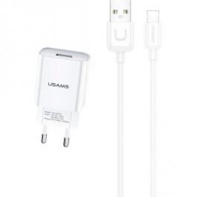 Сетевое зарядное устройство USAMS 2.1A + Type-C кабель