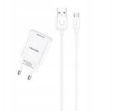 Сетевое зарядное устройство USAMS 2.1A + Micro USB кабель