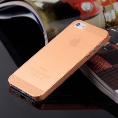 """Ультратонкий оранжевый чехол """"0.2mm"""" для 5/5s/SE"""